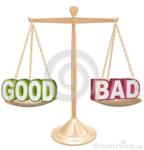 good-vs-bad-words-scale-weighing-positives-vs-negatives-29537026